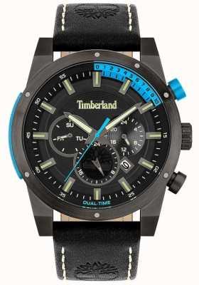 Timberland Homens | Sherbrook | pulseira de couro preto | mostrador preto 15951JSU/02