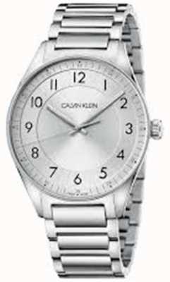 Calvin Klein | brilhante | pulseira de aço inoxidável | mostrador prateado | KBH21146