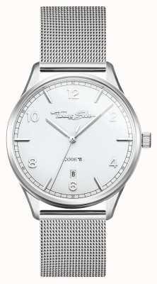 Thomas Sabo | glamour e alma | pulseira de malha de aço para mulher | mostrador prateado WA0360-201-202-36