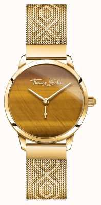 Thomas Sabo | glamour e alma | espírito de jardim para mulheres | tigres olho de ouro WA0364-264-205-33