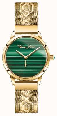 Thomas Sabo | glamour e alma | espírito de jardim para mulheres | ouro malaquita WA0365-264-211-33