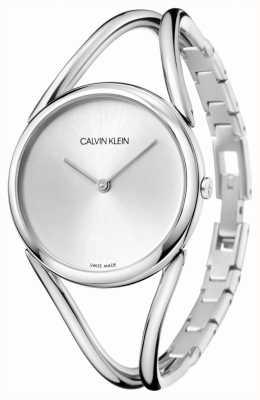 Calvin Klein | senhora | pulseira de aço inoxidável | mostrador prateado | KBA23126