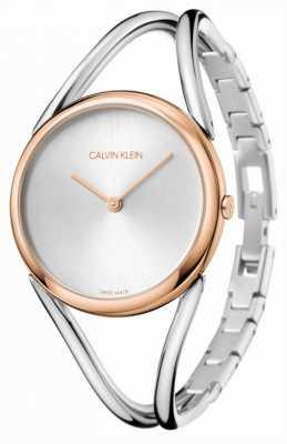 Calvin Klein Senhora pulseira de aço inoxidável | mostrador prateado | KBA23626