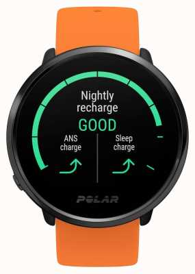 Polar | inflamar | pulseira de borracha laranja | monitor de freqüência cardíaca com GPS | m / l 90081718