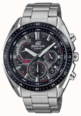 Casio | edifício | pulseira de aço | cronômetro | mostrador preto EFR-570DB-1AVUEF