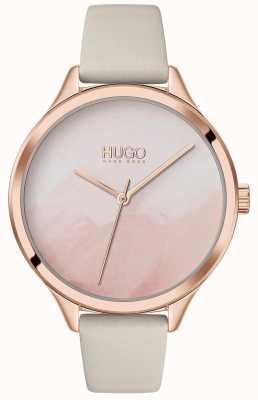 HUGO #smash | mostrador de blush rosa | pulseira de couro creme 1540059