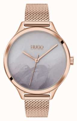 HUGO #smash | mostrador corado cinza | malha de ouro rosa 1540060
