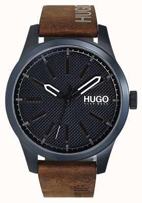 HUGO #invent | mostrador azul | pulseira de couro marrom 1530145