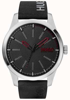 HUGO #invent | mostrador preto | pulseira de couro preto 1530146