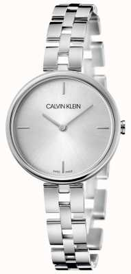 Calvin Klein Elegance   pulseira de aço inoxidável   mostrador prateado KBF23146