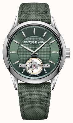 Raymond Weil Homens | freelancer | automático | mostrador verde 2780-STC-52001