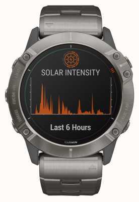 Garmin Fenix 6x pro solar | pulseira de titânio e pulseira laranja 010-02157-24
