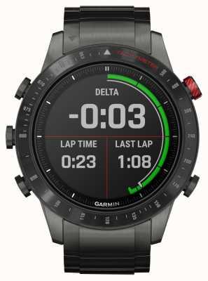 Garmin Motorista Marq | pulseira de titânio / silicone e pulseira de borracha preta 010-02006-01