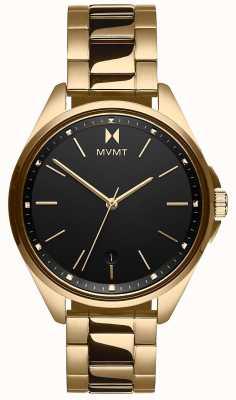 MVMT | coronada feminina | pulseira de aço tom dourado | mostrador preto 28000005-D