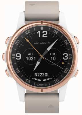 Garmin D2 delta s aviator   pulseira de couro bege 010-01987-31