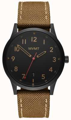MVMT | campo tira de lona marrom | mostrador preto 28000017-D