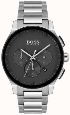 BOSS | pico masculino | pulseira de aço inoxidável | mostrador preto | 1513762