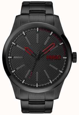 HUGO #invent | pulseira de aço preto | mostrador preto 1530148