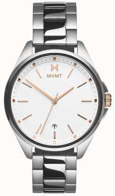 MVMT | coronada feminina | pulseira de aço inoxidável | mostrador branco 28000001-D