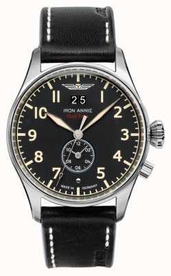 Iron Annie Controle de vôo de quartzo | pulseira de couro preto | mostrador preto 5140-2