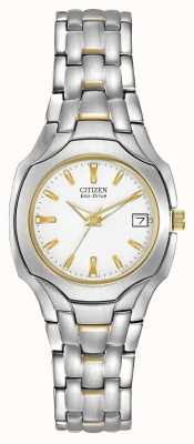 Citizen Womens two-tone com discagem branca eco-drive EW1254-53A