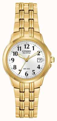 Citizen Relógio feminino esporte eco-drive ouro ip EW1542-59A