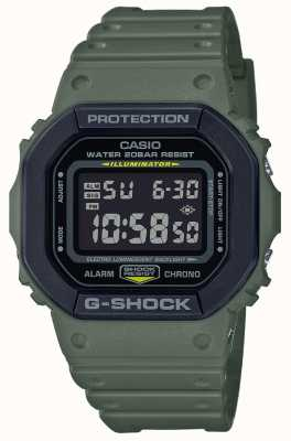 Casio G-shock | pulseira de borracha verde | tela digital DW-5610SU-3ER