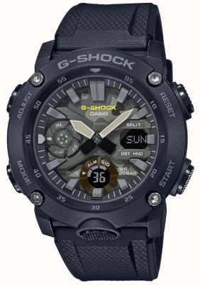 Casio G-shock pulseira de borracha | mostrador de camuflagem GA-2000SU-1AER