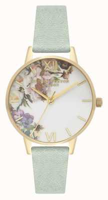 Olivia Burton Jardim encantado | bracelete em pele de sálvia para senhora | mostrador floral OB16EG112