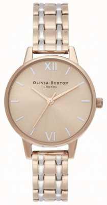 Olivia Burton | a coleção da inglaterra | pulseira de aço bicolor | OB16EN02