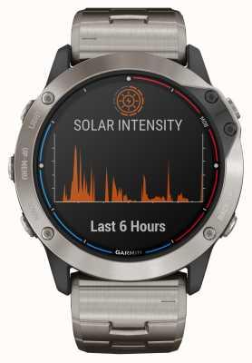 Garmin Pulseira de titânio em vidro para energia solar Quatix 6x 010-02157-31