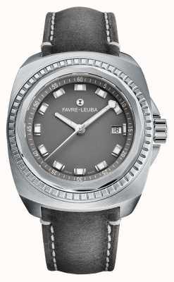 Favre Leuba Raider rei do mar | pulseira de couro antílope cinza | mostrador cinza 00.10107.08.41.45