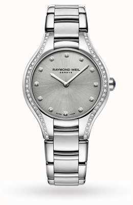 Raymond Weil Noemia das mulheres | 64 diamantes | aço inoxidável mostrador cinza 5132-STS-65081
