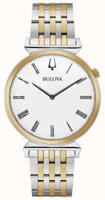 Bulova Mens regata pulseira de aço inoxidável de dois tons | 98A233