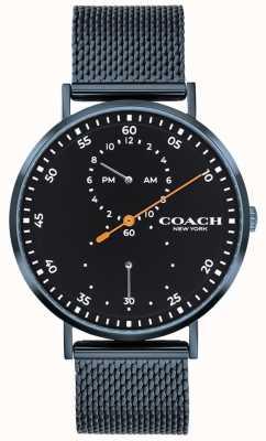 Coach Relógio de pulseira de malha azul Charles 14602478