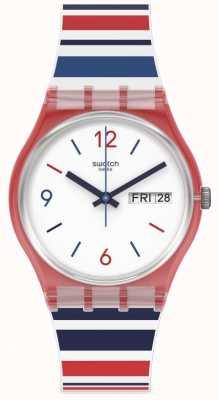 Swatch Código de barras do mar | relógio de dia e data GR712