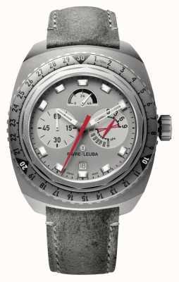 Favre Leuba Cavalete raider 9000 | pulseira de couro antílope cinza 00.10105.06.45.45