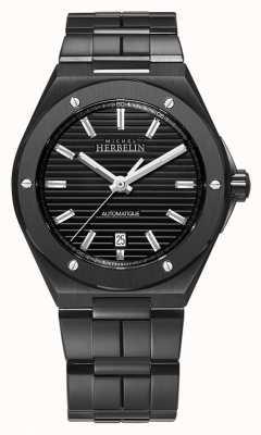 Michel Herbelin Camarat boné masculino | automático | pulseira de aço preto 1645/BN14