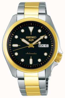 Seiko Relógio automático desportivo masculino 5 | dois tons SRPE60K1