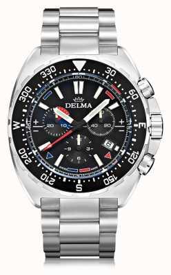 Delma Oceanmaster cronógrafo de quartzo | pulseira de aço inoxidável 41701.678.6.038