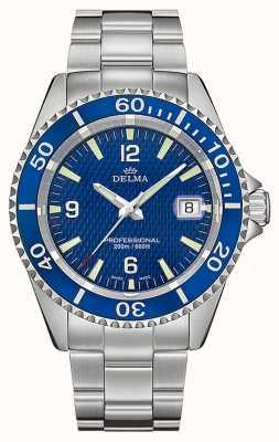 Delma Quartzo de Santiago | pulseira de aço inoxidável | mostrador azul 41701.562.6.044