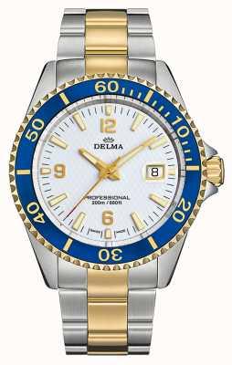 Delma Quartzo de Santiago | pulseira de aço bicolor | mostrador branco 52701.562.6.014