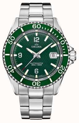 Delma Santiago automático | pulseira de aço inoxidável | mostrador verde 41701.560.6.144