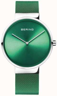 Bering Clássico | cinta de malha verde | mostrador verde 14539-808