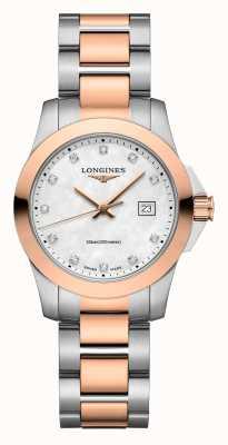 Longines | conquista clássico | mulheres | quartzo suíço | dois tons L33763887