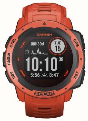 Garmin GPS instinto solar chama pulseira de borracha vermelha 010-02293-20