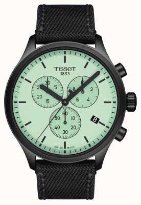 Tissot Mens chrono xl | mostrador verde | cinta de tecido preto T1166173709100