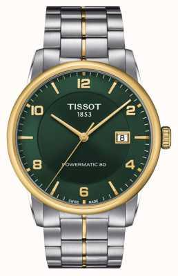 Tissot Luxo powermatic 80 | mostrador verde | pulseira de aço inoxidável T0864072209700