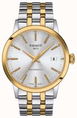 Tissot Swissmatic   pulseira de aço inoxidável de dois tons com mostrador prateado T1294072203101