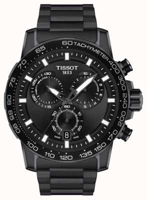 Tissot Supersport chrono   mostrador preto   pulseira de aço pvd preto T1256173305100